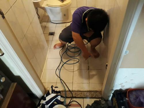 屏東市浴室免打除防水處理-高壓灌注