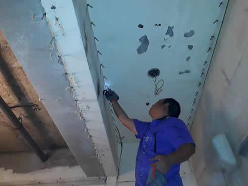 屏東天花板防水工程-高壓灌注處理