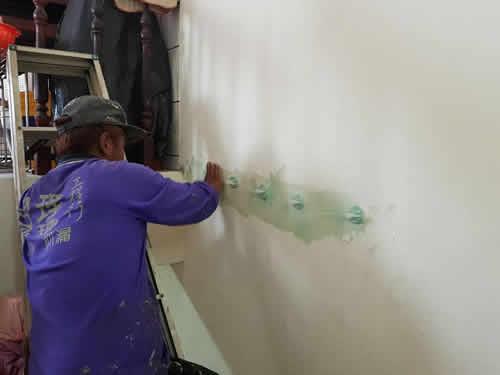 屏東市防水工程-低壓灌注-牆壁漏水