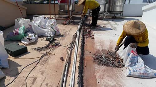 屏東市防水工程-頂樓斷水處理