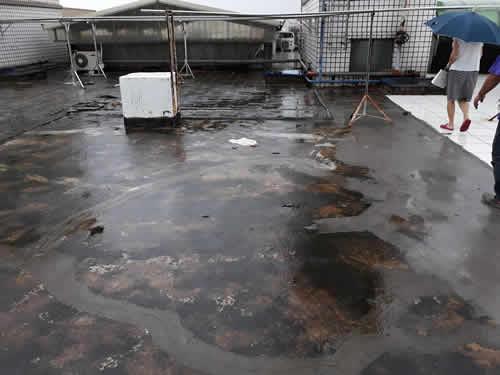 屏東頂樓漏水/斷水處理-地板防水處理