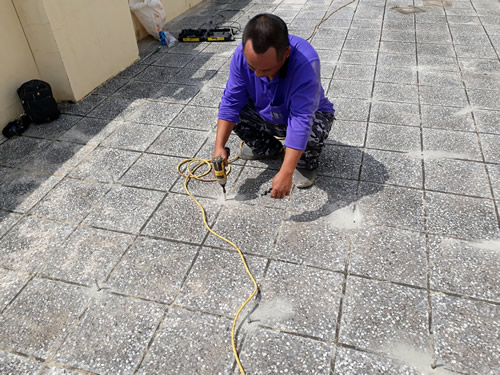 屏東頂樓地板防水處理-高壓灌注